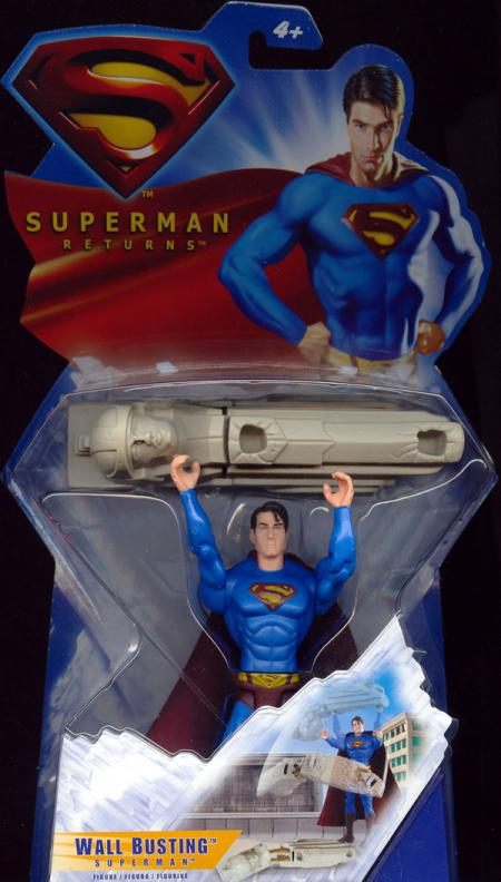 Wall Busting Superman Returns Movie action figure