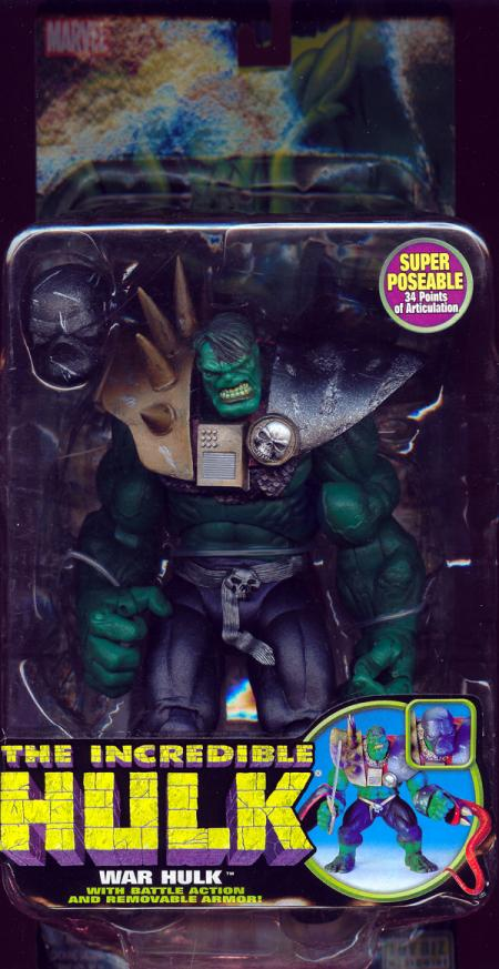 War Hulk Incredible Battle Action figure Removable Armor action figure