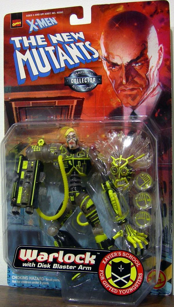 Warlock Action Figure with Disk Blaster Arm X-Men New Mutants