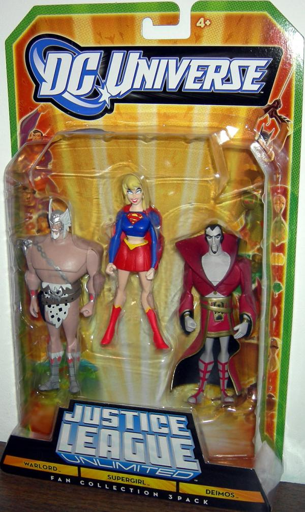 Warlord Supergirl Deimos Fan Collection DC Universe JLU action figures