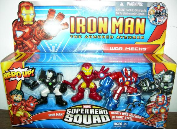 War Mechs Super Hero Squad Iron Man Armored Avenger action figures