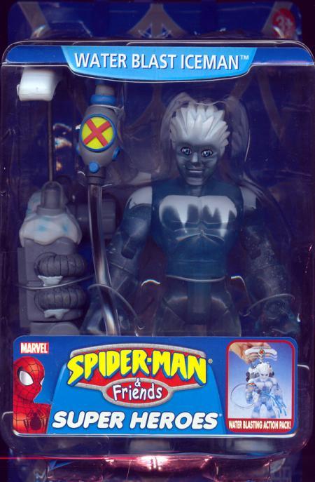 Water Blast Iceman Figure Spider-Man Friends Super Heroes