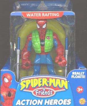 Water Rafting Spider-Man Friends Super Heroes action figure