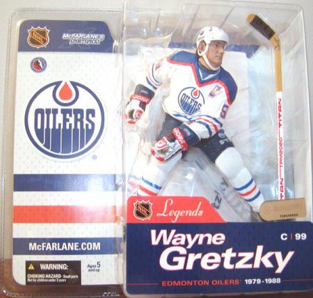 Wayne Gretzky Legends Oilers White Jersey SportsPicks action figure