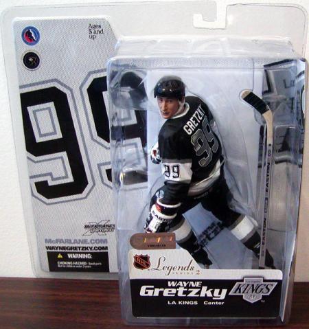 Wayne Gretzky Legends 2 Kings Black Jersey SportsPicks action figure