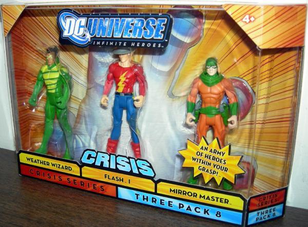 Weather Wizard Flash 1 Mirror Master Three Pack 8 action figures