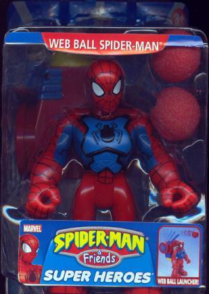 Web Ball Spider-Man Friends Super Heroes Launcher action figure