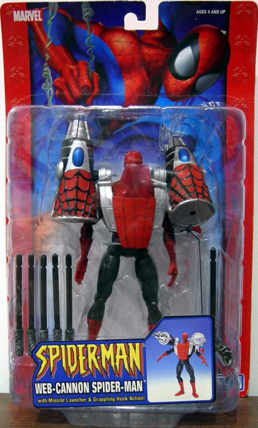 Web-Cannon Spider-Man Figure Classic Missile Launcher Grappling Hook Action