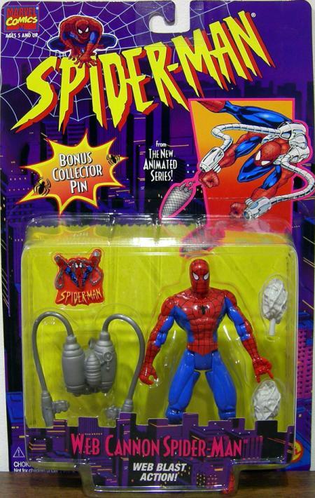 Web Cannon Spider-Man Animated Series Blast Action figure