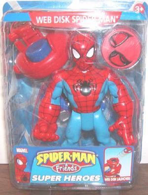 Web Disk Spider-Man Friends Super Heroes Launcher action figure