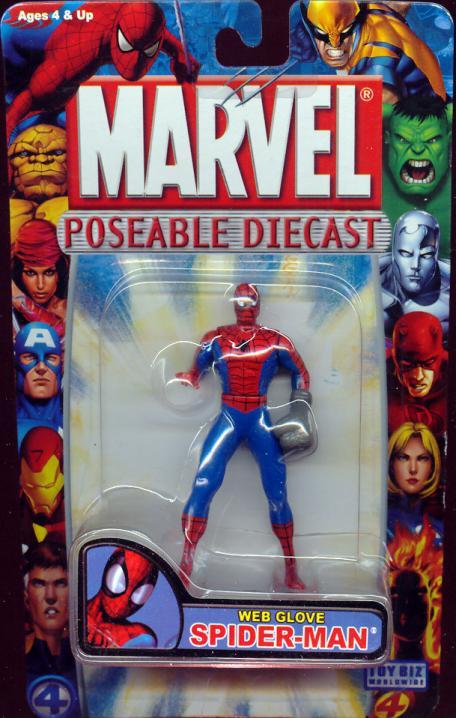 Web Glove Spider-Man Marvel Poseable Diecast action figure