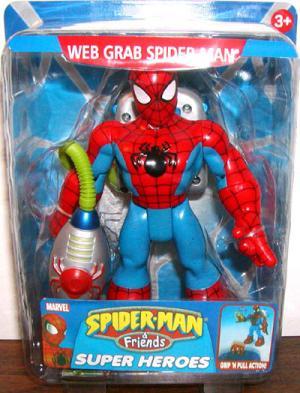 Web Grab Spider-Man Friends Super Heroes Grip Pull Action figure