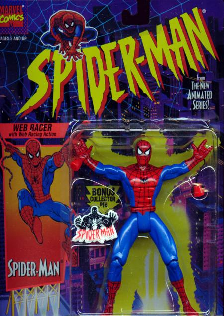 Web Racer Spider-Man Figure Animated Series Toy Biz