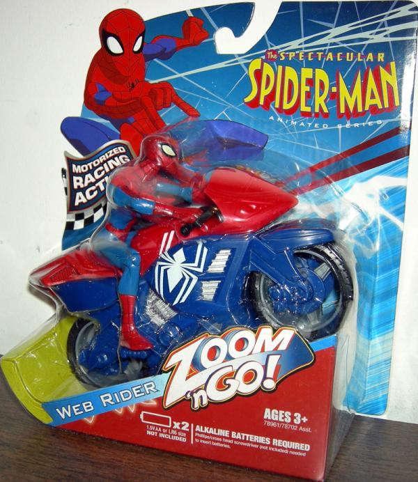 Web Rider Spectacular Animated Series Zoom n Go Figure Vehicle