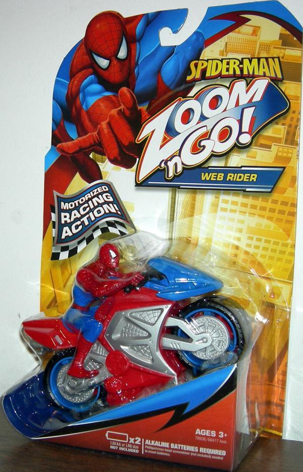 Web Rider Zoom n Go Spider-Man action figure vehicle