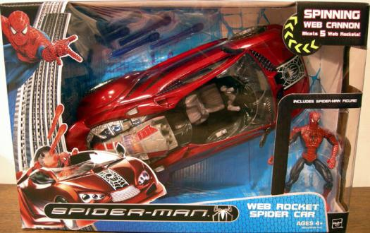 Web Rocket Spider Car Spider-Man action figure vehicle