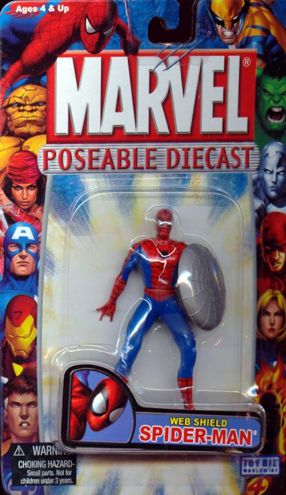 Web Shield Spider-Man Poseable Diecast action figure