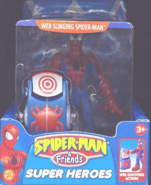 Web-Slinging Spider-Man Friends Super Heroes Web Shooting Action