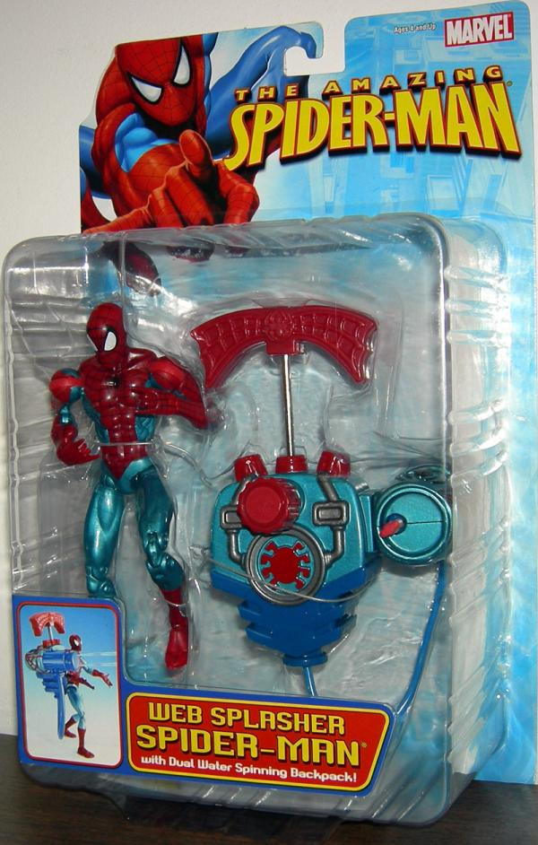 Web Splasher Spider-Man Amazing Dual Water Spinning Backpack figure
