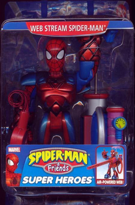 Web Stream Spider-Man Friends Super Heroes Air-Powered Web figure