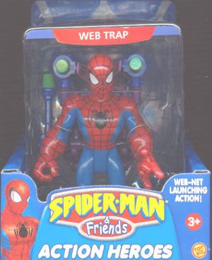 Web Trap Spider-Man Friends Super Heroes Net Launching Action figure