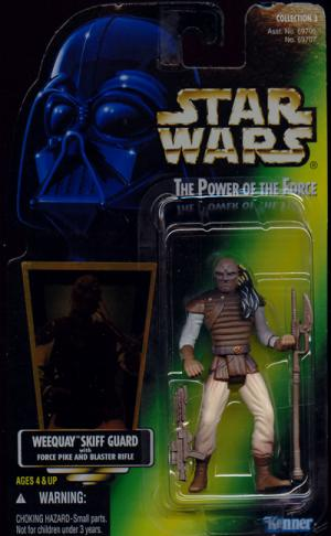 Weequay Skiff Guard Green Card Collection 3 Star Wars action figure