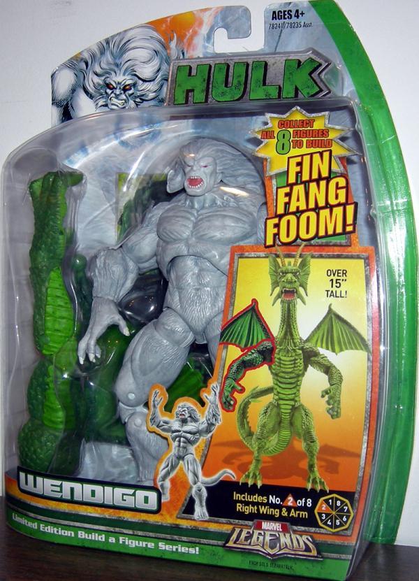 Wendigo Marvel Legends Fin Fang Foom Series Hulk action figure