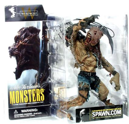 Werewolf Mutating Spawn McFarlanes Monsters action figure