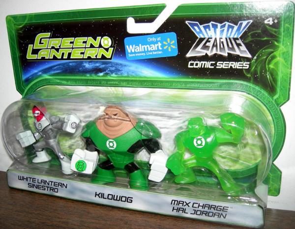 White Lantern Sinestro Kilowog Max Charge Hal Jordan Action League