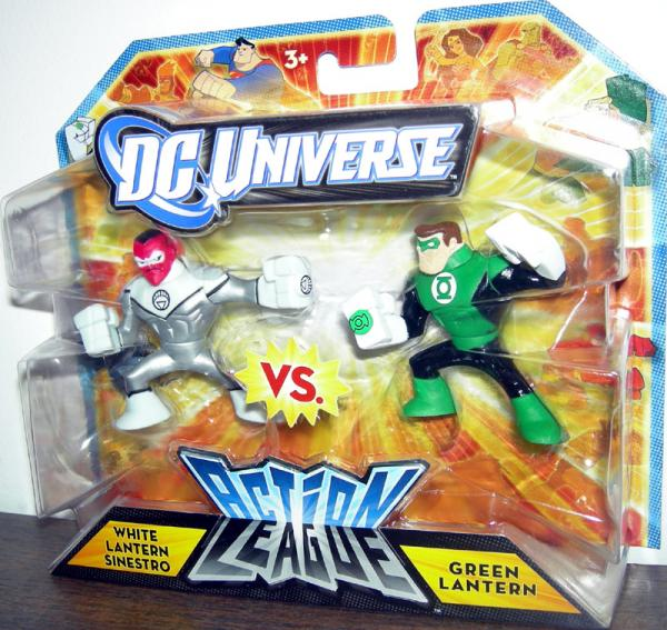White Lantern Sinestro vs Green Lantern Action League figures