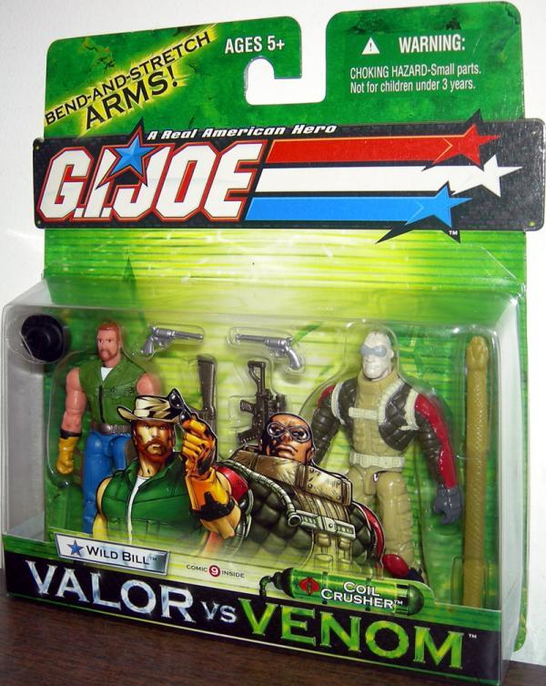 Wild Bill vs Coil Crusher GI Joe Valor Venom action figures