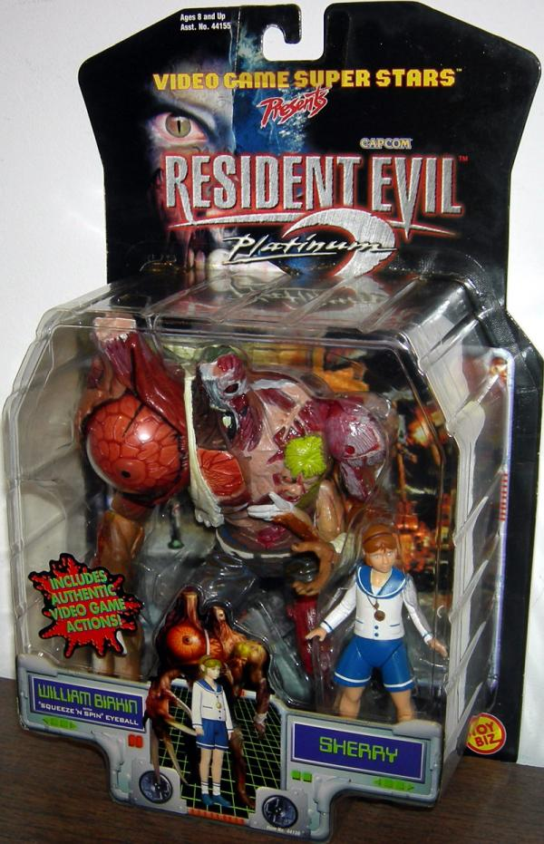 William Birkin Sherry Resident Evil 2 Platinum action figures