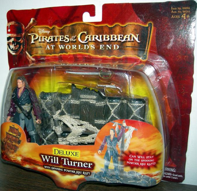 Will Turner Deluxe Worlds End Pirates Caribbean action figure