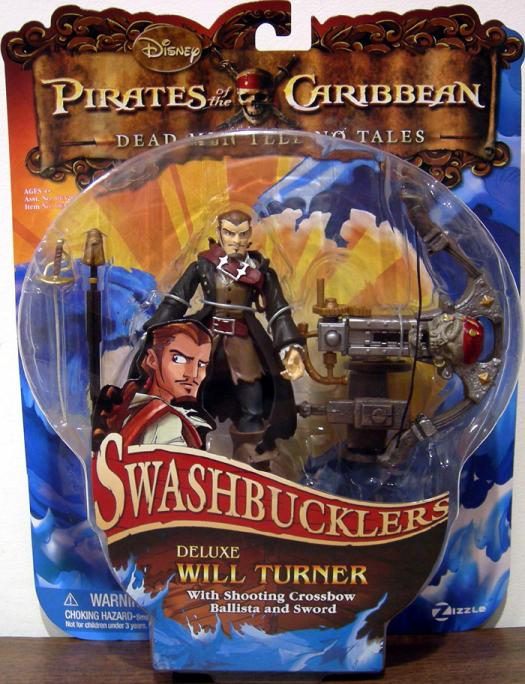 Will Turner Swashbucklers Deluxe Pirates Caribbean action figure