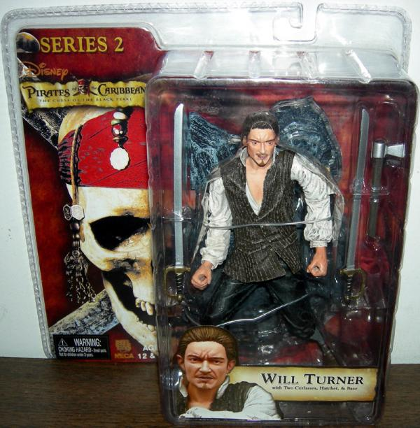 Will Turner Curse Black Pearl Series 2 Pirates Caribbean action figure