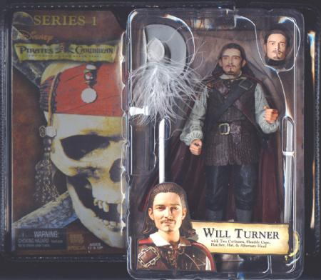 Will Turner Curse Black Pearl Pirates Caribbean Series 1 action figure