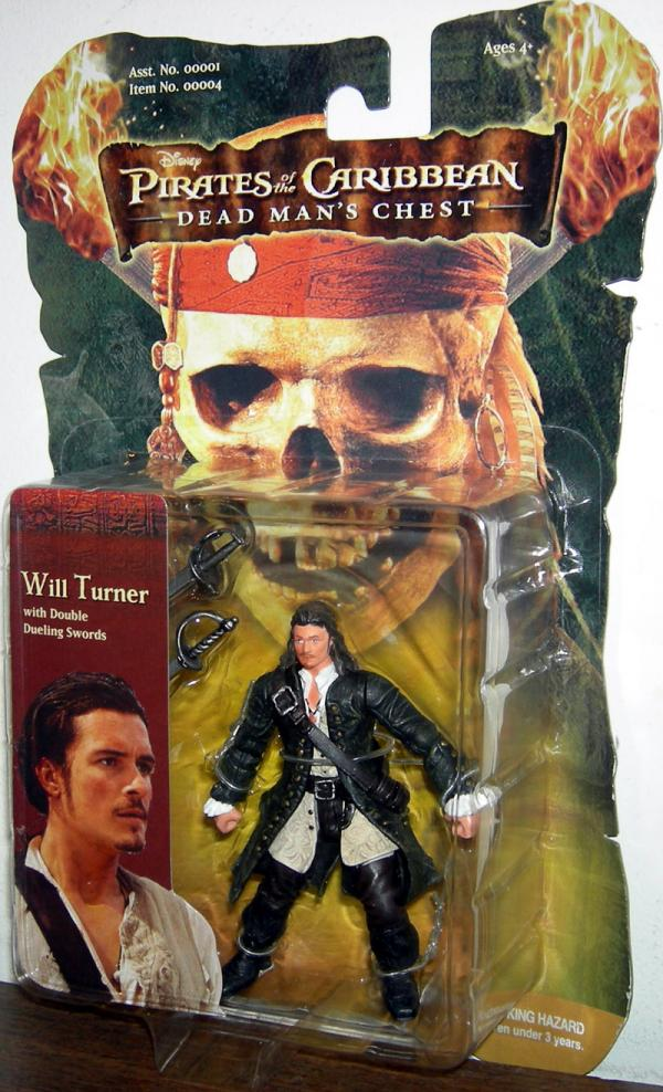 Will Turner Pirates Caribbean Dead Mans Chest 4 Inch action figure
