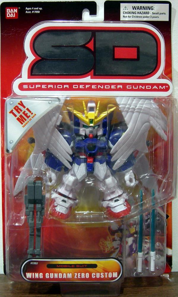 Wing Gundam Zero Custom Superior Defender SD action figure