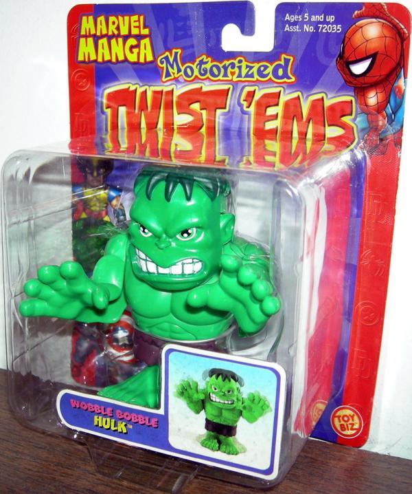Wobble Bobble Hulk Marvel Manga Motorized Twist Ems action figure