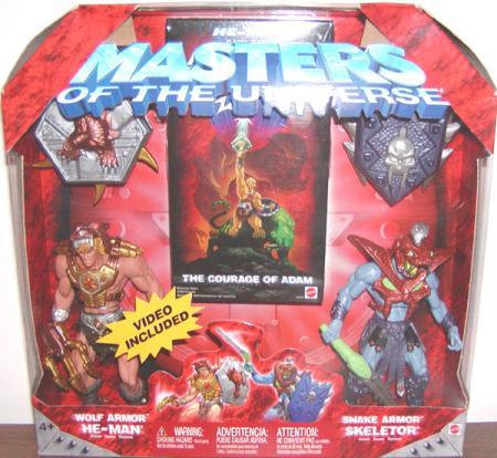 Wolf Armor He-Man vs Snake Skeletor Masters Universe action figures