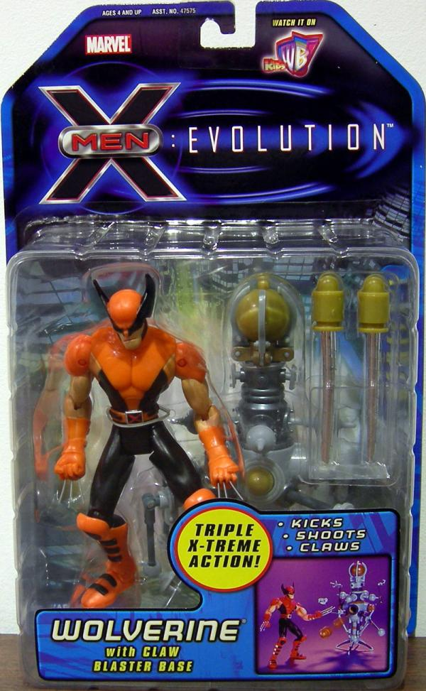 Wolverine Figure Evolution Animated Series X-Men Claw Blaster Base