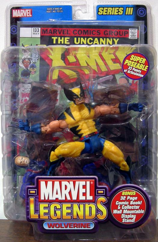 Wolverine Marvel Legends Series III Action Figure Toy Biz