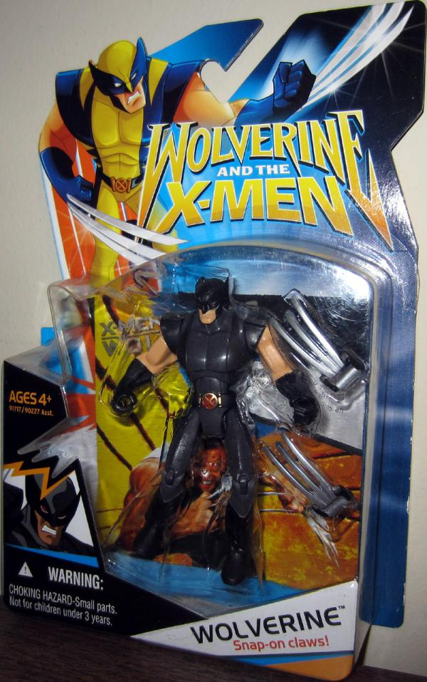 Wolverine Figure X-Men Animated Black Suit Hasbro