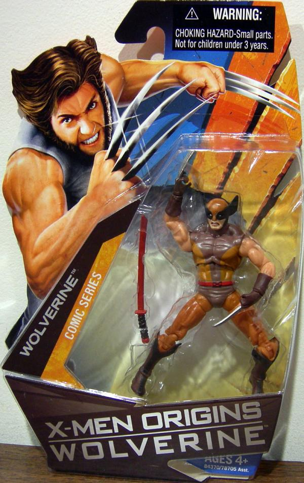 Wolverine X-Men Origins Comic Series Brown Costume action figure