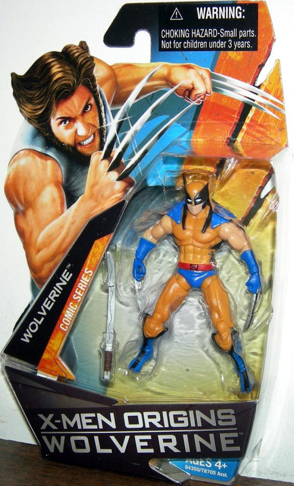 Wolverine X-Men Origins Action Figure Comic Series Yellow Costume