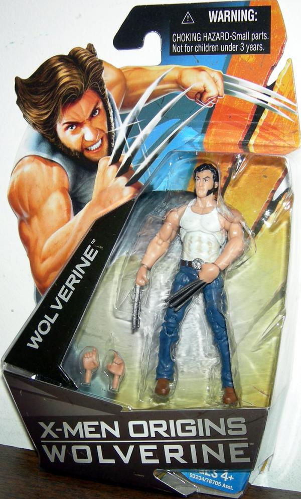 Wolverine X-Men Origins White Shirt Action Figure Hasbro