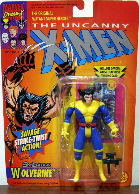 Wolverine 3rd Edition Action Figure Blue Legs X-Men Toy Biz