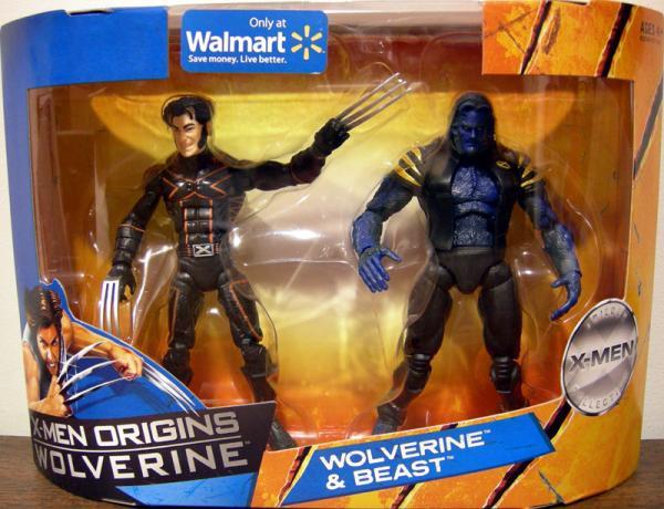 Wolverine Beast Figures X-Men Origins Trilogy Collection Walmart
