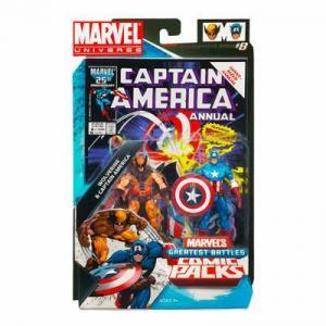 Wolverine Captain America Figures Marvel Universe Comic Packs