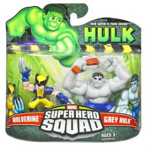 Wolverine Grey Hulk Super Hero Squad action figures